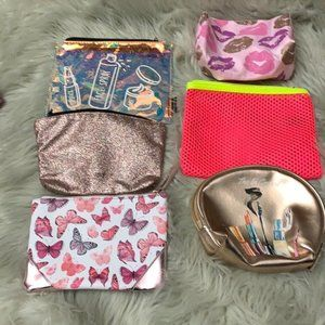 """3/$12 New Zipper Cosmetic Bags """"firm"""""""